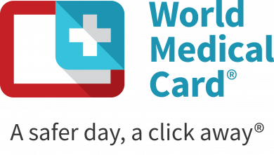 world medical card logo slagord